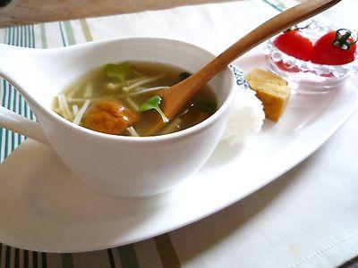 即席とろろ昆布の梅スープ♪