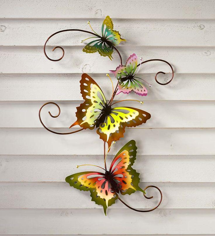 Butterfly Scroll 3D Metal Wall Art | Wall Art