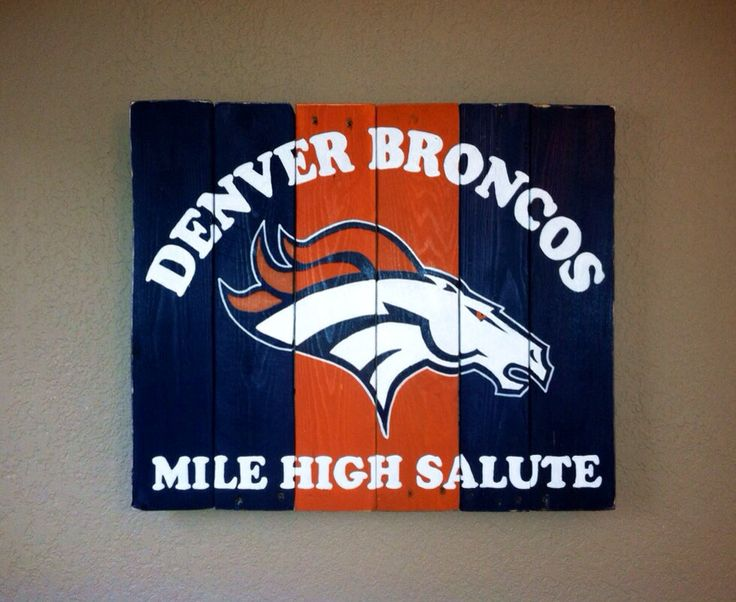 Denver Broncos Mile High Salute wall art by KristaLianeDesigns, $100.00