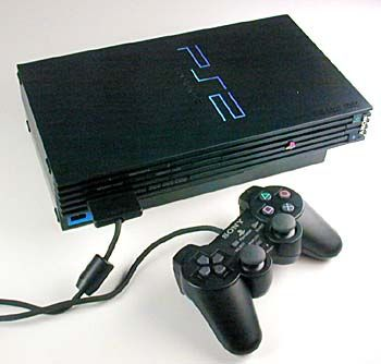 PlaySation 2 console and controller, released in the EU on 24 November 2000