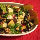 Foto recept: Salade met appel, brie en walnoot