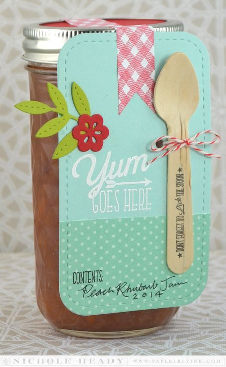 Yum Goes Here Tag by Nichole Heady for Papertrey Ink (October 2014)