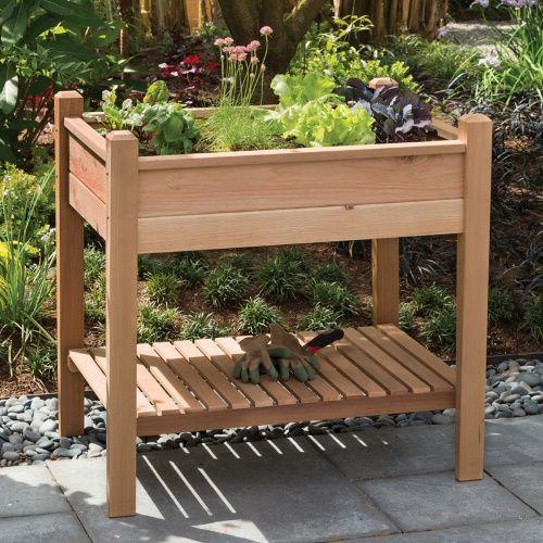 Arboria EZ Plant Cedar Elevated Garden Bed - Raised Bed & Container Gardening at Hayneedle