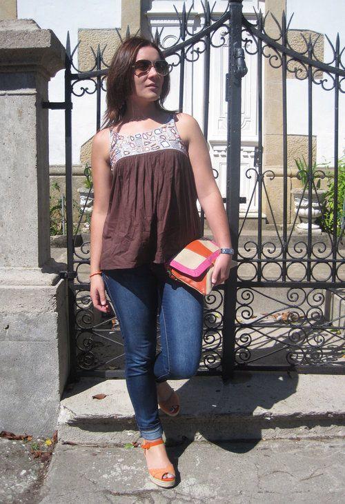 Anaranjada  , Vero Moda en Camisas / Blusas, Blanco en Jeans, Marypaz en Tacones / Plataformas, Blanco en Clutches