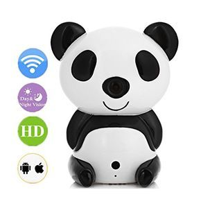 Baby Monitors,Amgaze HD 1280 x 720P Day/Night Wi-Fi Baby Monitor Cute Panda Cloud IP Wireless Night Vision Security Camera - $67.99