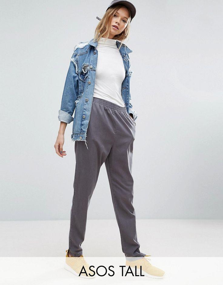Pantalon De Cheville Lavés Coniques - Asos Gris Hautes SzPwTzyM