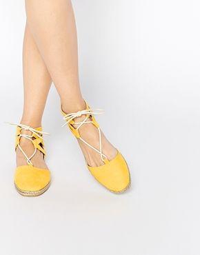 asos yellow espadrilles