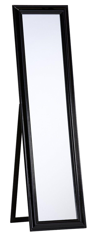 Amazon.de: Standspiegel schwarz Spiegel Ankleidespiegel Ganzkörperspiegel 45x170 cm MARIA