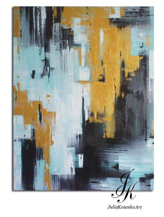Abstract Painting Large Wall Art Textured Art Large Canvas Art