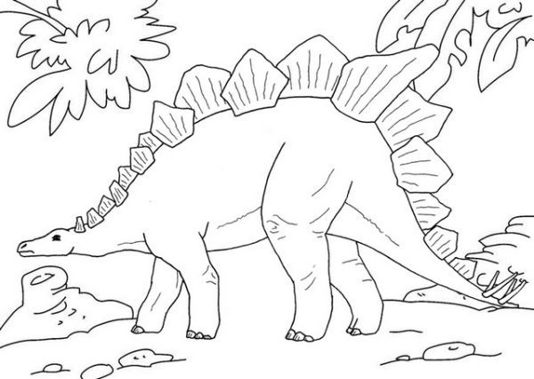Giant Dinosaur Coloring Pages Portraits
