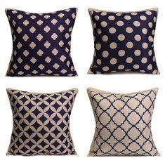#Banggood Синий геометрические хлопок льняная подушки случаев талии подушке покрытия дома диван декор (991946) #SuperDeals