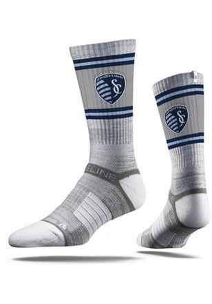 Sporting Kansas City Fade Stripe Crew Socks