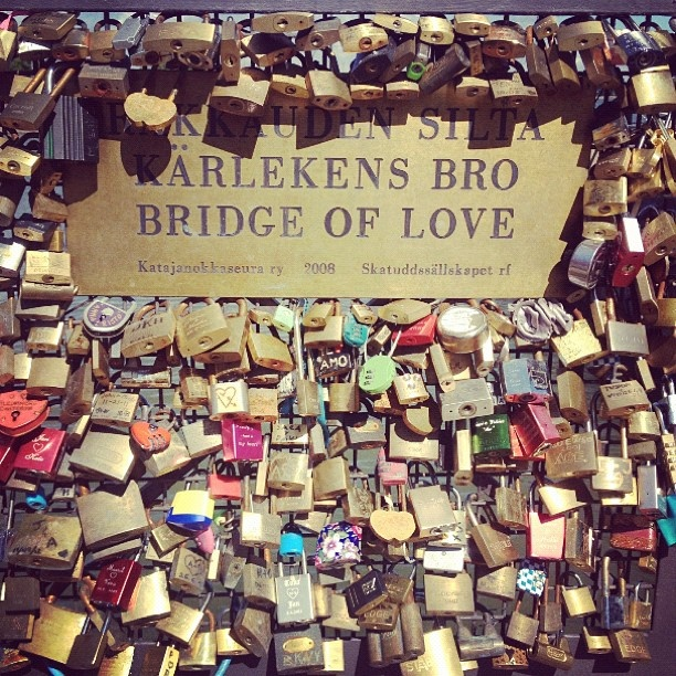 Bridge of love. Locks. helsinki skatta (Taken with Instagram at Katajanokka)