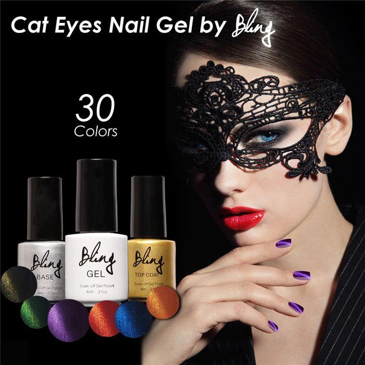 Magnetische Katzenauge Gel Nagelgelpoliermittel 6 ML langlebige UV Gel tränken-weg LED UV Farbe Gel Lack