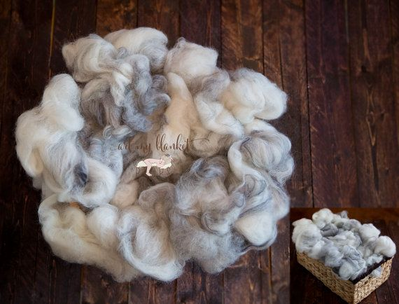 Wool fluff basket stuffer merino prop baby newborn by artmyblanket 21 00