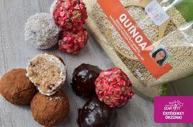 Fahéjas vegán quinoa sütés nélküli süteménygolyó (gluténmentes, tejmentes, tojásmentes, cukormentes, hozzáadott zsírtól mentes) ~ Éhezésmentes Karcsúság Szafival