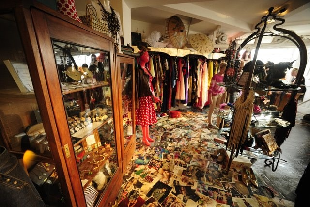 The top floor with some vintage delights