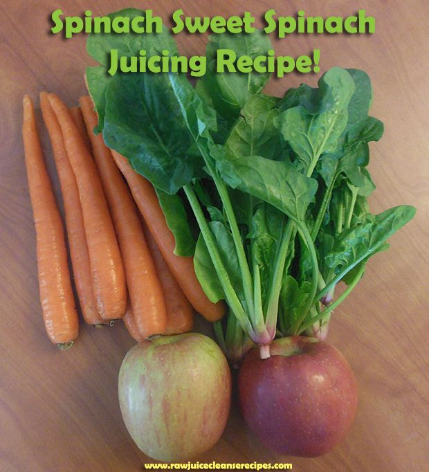 Spinach Sweet Spinach Juicing Recipe! Delicious and contains benefits for your skin, healthy blood, anti-cancer, weight loss, and more!   #juicing #juicerecipes #juicecleanserecipes
