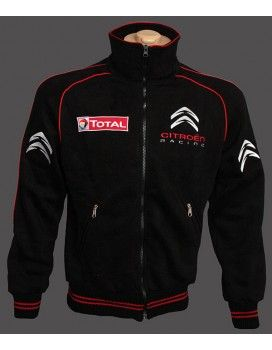 Citroen Black High Quality Fleece Jacket With embroidered logos http://autofanstore.com