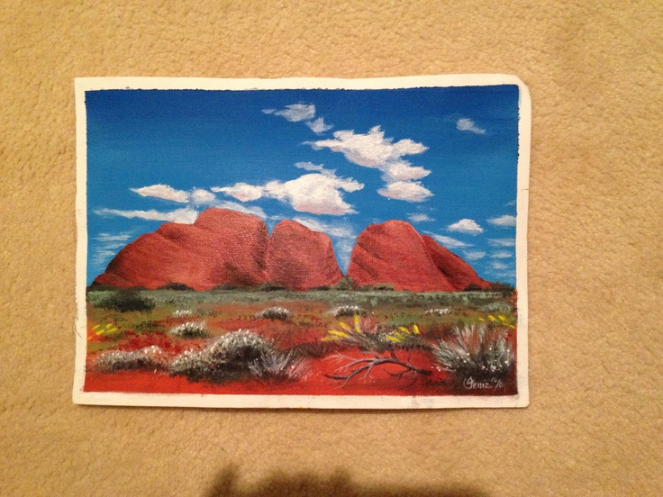 playing with acrylics - in love with the outback- Kata Tjuta (the Olga`s not far   from Uluru (Ayers Rock)
