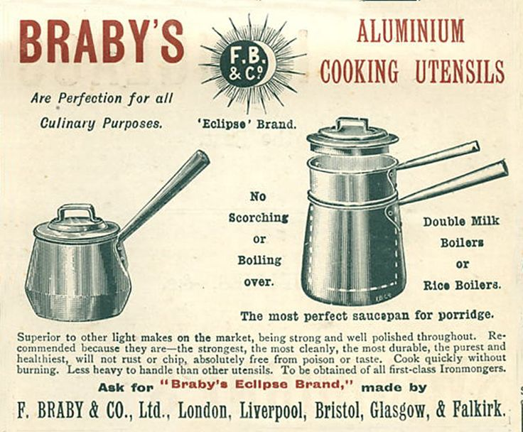 Adverts for the latest cooking gadgets in Victorian times