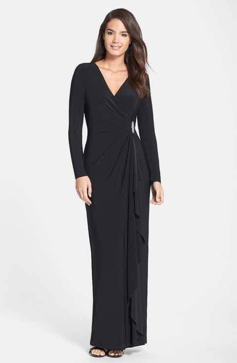 lona - Lauren Ralph Lauren Embellished Jersey Gown (Regular & Petite)