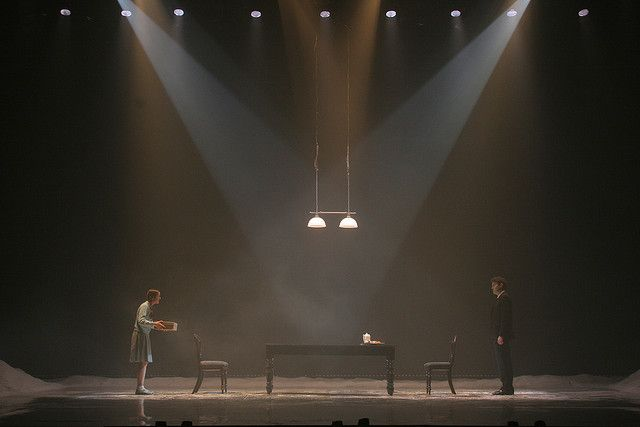 """Don Juan Comes Back From War"" - directed by Gadi Roll, Designed by Roni Toren based on Miriam Goretzki, Lighting by Felice Ross.Wrslaw-Poland-2007"