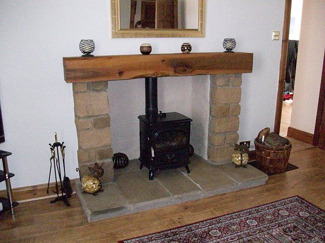 25 best images about log burner on pinterest mantels mantles and stove - Fireplace mantel piece ...