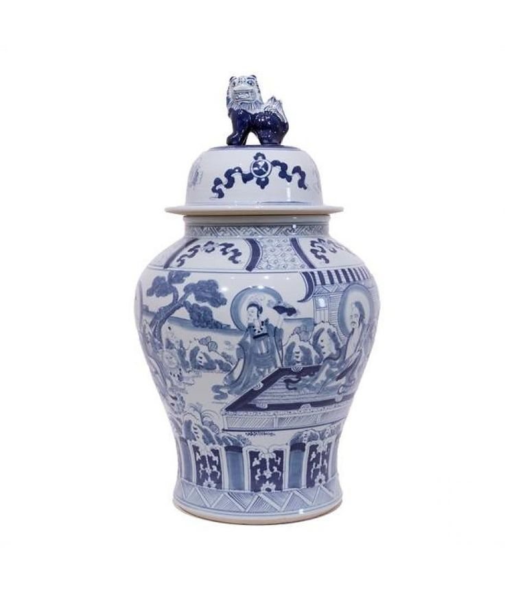 Van Roon Living Jar Bleu de Chine