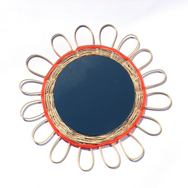 DIY- Miroir en rotin