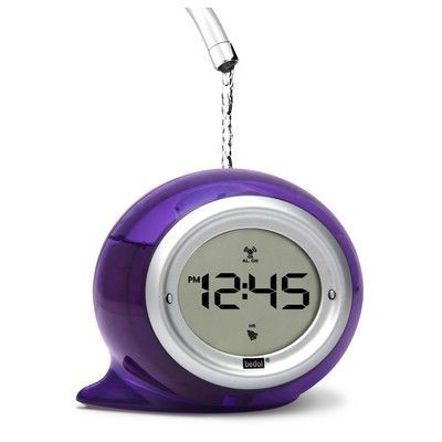 Bedol Water Clock Squirt Water Alarm Clock Color: Plum Purple