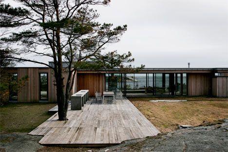 Kongefamiliens hytte på Mågerø - i osp (levert av Svenneby)