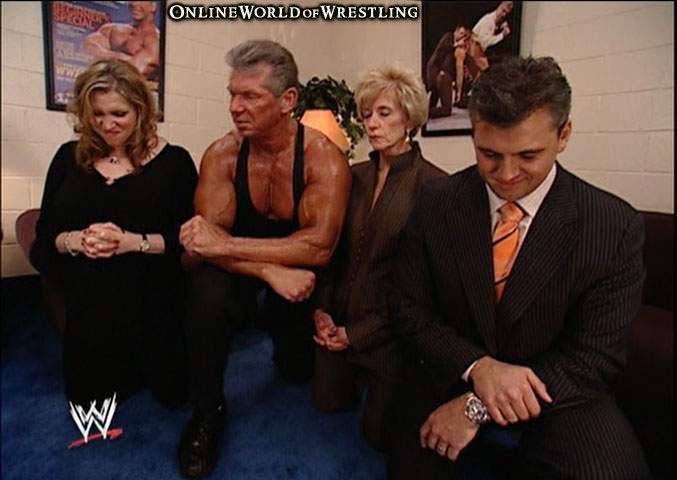 Mcmahon family prayer from quot wwe wrestlemania 22 quot vince mcmahon