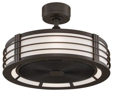 Beckwith Fan with Cream Shade and Black Blade transitional-ceiling-fans