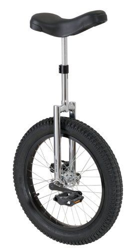 Avenir Mountain Bike Unicycle (20-Inch Wheel) by Avenir. $109.99. Double-bolt seat clamp prevents slippage. Cotterless 3-piece cranks; padded saddle. 20-inch unicycle with tough steel frame. Tire measures extra-wide 20 x 2.5 inches. Extra-large, knobby off-road tire. Amazon.com                Improve your balance while enjoying a whole new form of exercise with the Raleigh MTB 20-inch unicycle. The device offers such features as a double-bolt seat clamp that prev...