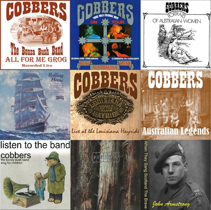 Nine of the 11 albums released by Cobbers