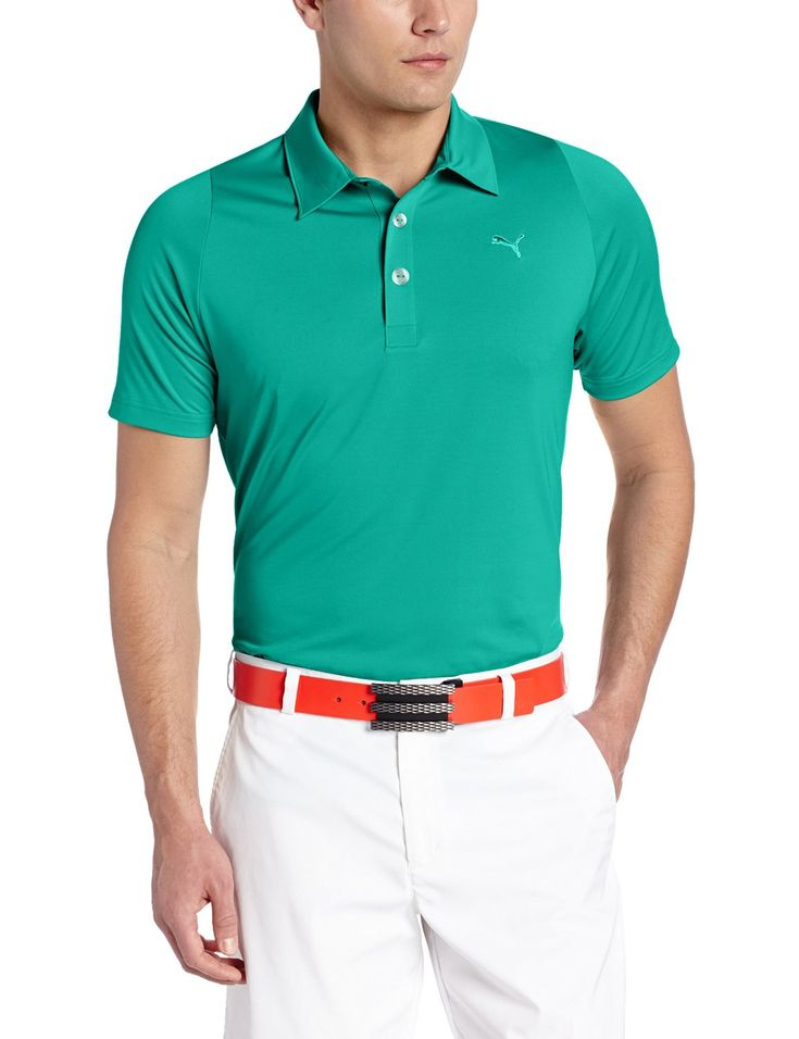 Offering superior temperature regulation this mens NA duo swing golf polo  shirt by Puma will ensure