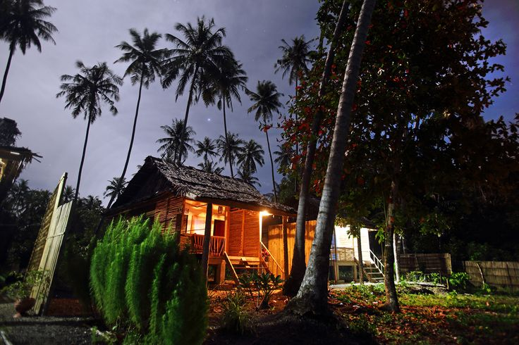 Afulu Retreat is one of the few places to stay in the northwest part of Nias Island. Its is located in the south end of the scenic Walo beach in front of the best surf wave in the area. Nias Island, North Sumatra, Indonesia. Photo by Bjorn Svensson. www.visitniasisland.com