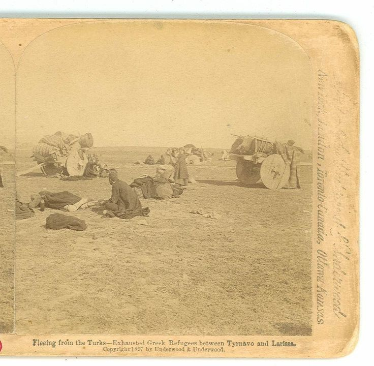 WSA7824 Greek Turkey War Greek Refugees Fleeing from The Turks Greece D | eBay