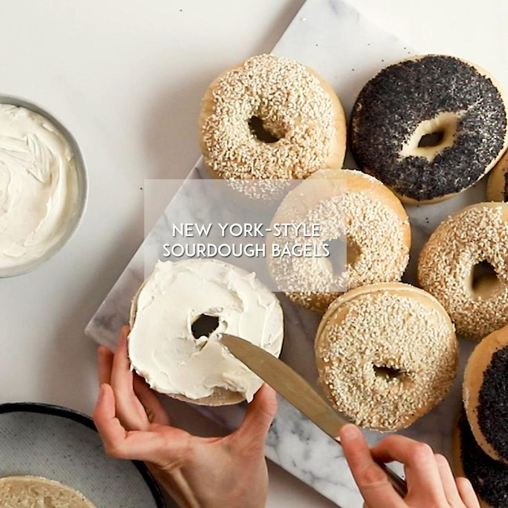 New york style sourdough bagels baked video recipe