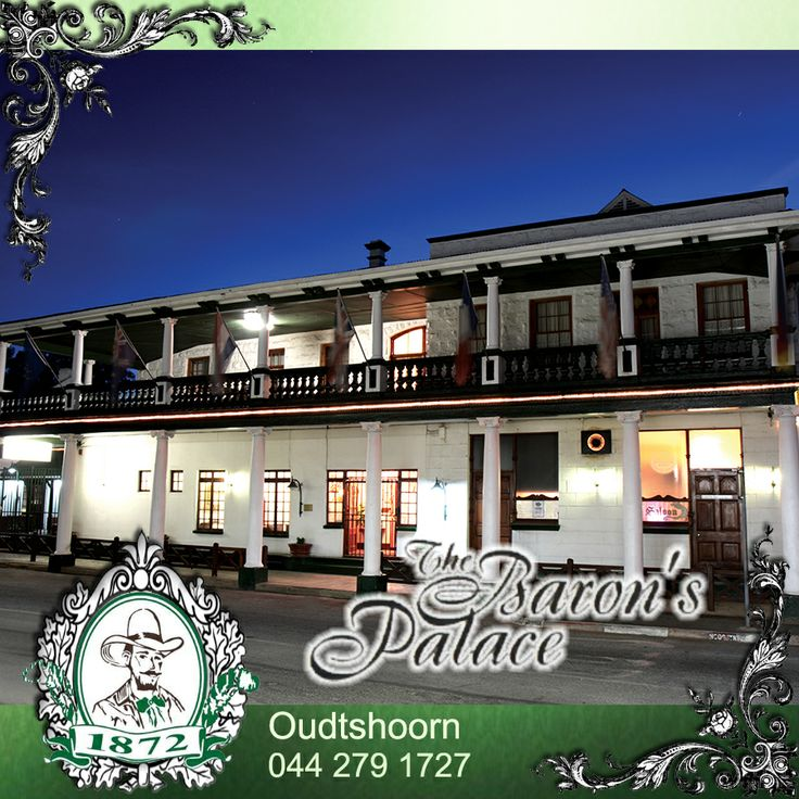 The Barons Palace Hotel in Oudtshoorn reveals to her guests an era of affluence and opulence. The Hotel was built at the turn of the century by a wealthy Ostrich Baron. Click here for more: http://on.fb.me/1hHshAJ #Oudtshoorn #accommodation #KleinKaroo