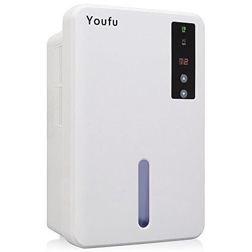 Home Dehumidifier Powerful Small-Size Dehumidifier Intelligent Dehumidifier w/Auto Humidistat - Sleeping Mode & Touch Panel Control-Great For bedrooms bathrooms RV Laudry or basements Approx 1200 Cubic Feet