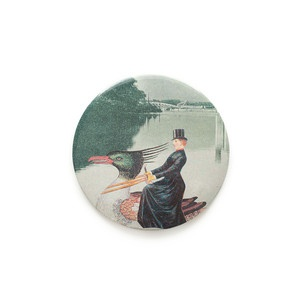 Lady On Duck Pocket Mirror now featured on Fab.