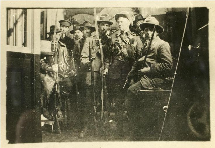 Irish Rebels occupying the Dublin General Post Office during the Easter Rising, 1916 #IrishHistory