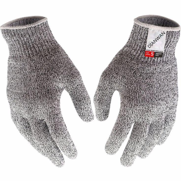 HOT Sarung Tangan Kevlar Bukti Melindungi HPPE Keselamatan Mesh Butcher anti-pemotongan Bernapas Polyethylene Potong Sarung Tangan Tahan Sarung Tangan Kerja