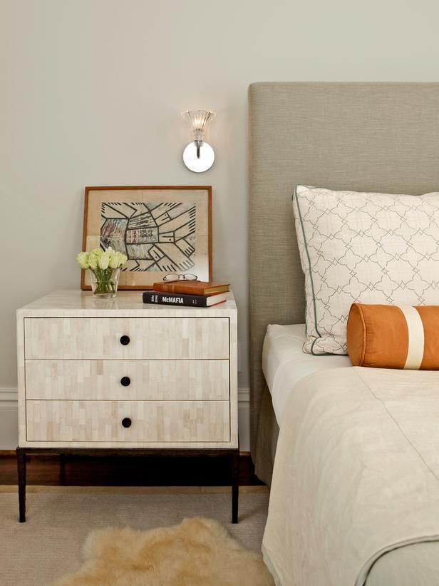 Get a Leg Up in Tips for a Clutter-Free Bedroom Nightstand from HGTV