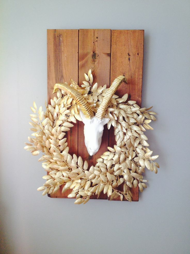 Goat with Gold Wreath