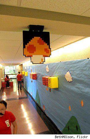 decorating hallways for homecoming week the glen echo school spirit