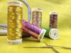 metallic 300x225 5 Tips for Embroidering with Metallic Thread!