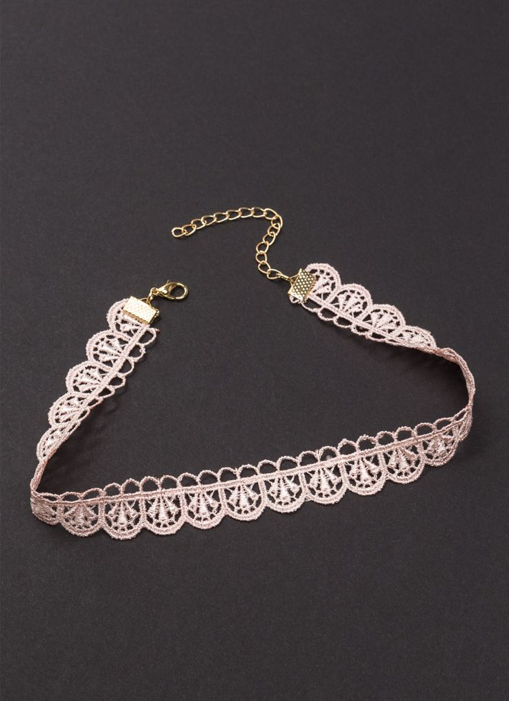 Crochet Your Way Lacy Choker PEACH LTPEACH - GoJane.com